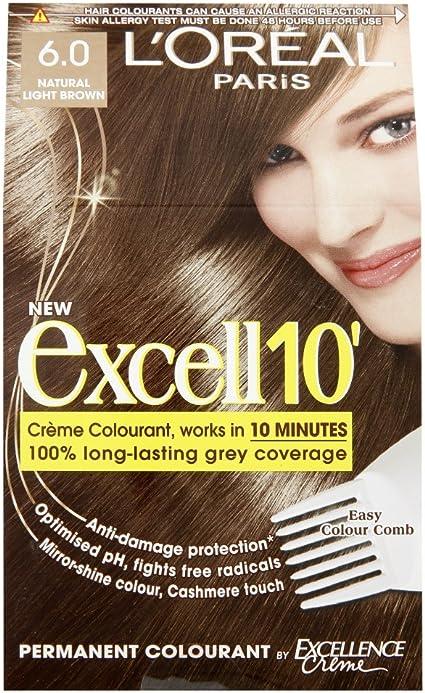 LOréal Paris Excell, tinte para el pelo, tono 10 Castaño ...