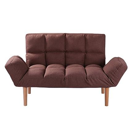 Superbe QVB Brown Futon Sofa Sleeper Loveseat Convertible Sofa Bed, Brown Color