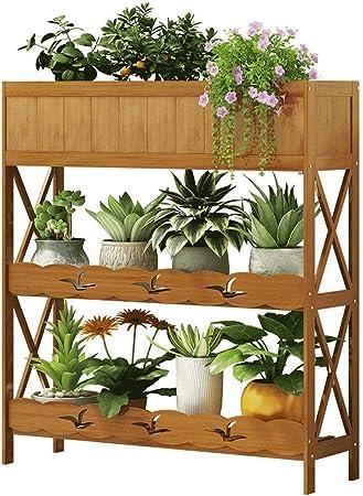 IDWOI Estantería para Plantas Soporte Macetas Estantería para Plantas De Bambú Interior Escalera De Pie para Plantas Multifuncional Estantería Decorativa (Size : 100cm): Amazon.es: Hogar