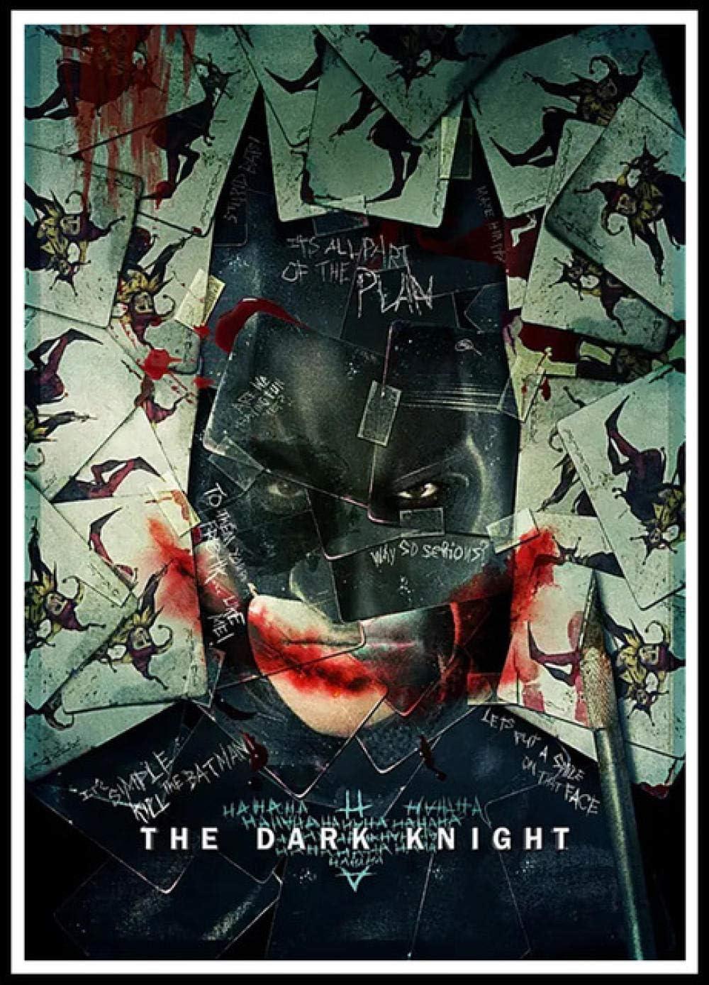 WOMGD® Rompecabezas de Batman The Dark Knight Rompecabezas, Rompecabezas 1000 Piezas, Ensamblaje Inteligencia Desafío Juguetes Decoración del hogar