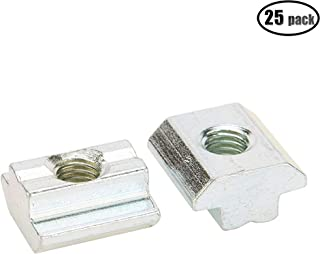 iztor 40 Series Metric Carbon Steel Tee Nuts M5 Sliding T Nut for 4040 Aluminum Profiles Pack of 50