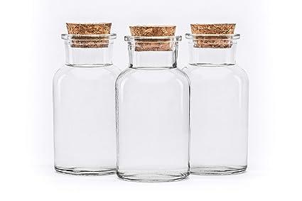 10 piezas de 250 ml Botellas de deseo de vidrio transparente recipientes de vidrio frasco de