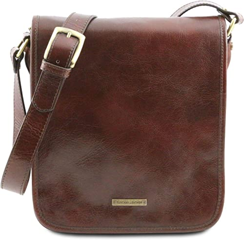 Tuscany Leather TL Messenger Two compartments leather shoulder bag Brown