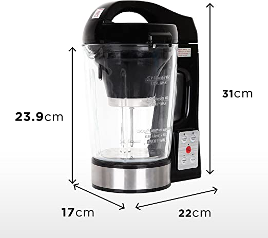 Duronic BL78 Batidora de Vaso con Función para Sopas Máquina para Sopas y Cremas con Vaso de Cristal Termoresistente de 1,2 L Robot de Cocina Sopas, Cremas, Salsas, Batidos: Amazon.es: Hogar