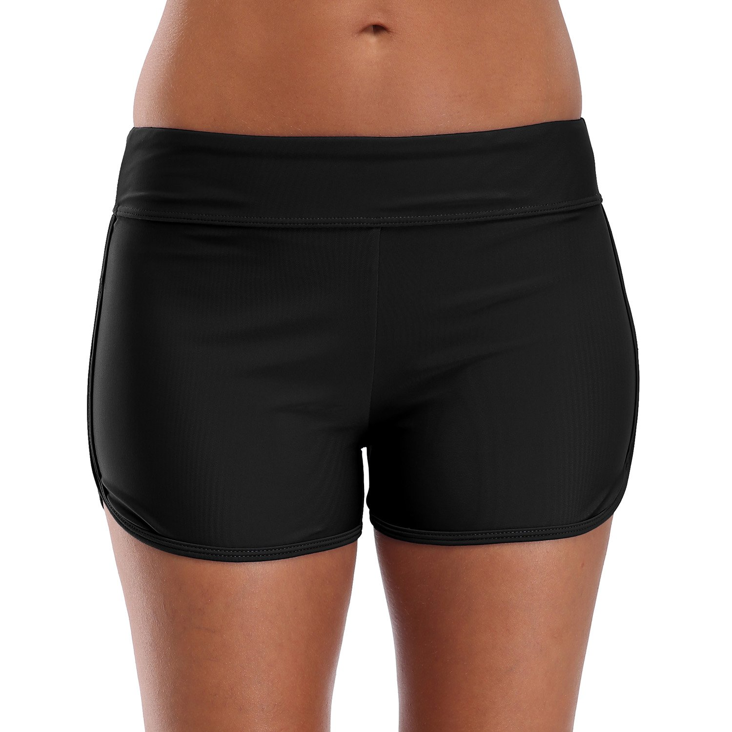 87e278762bb6 Quick dry and light weight activewear comfy board shorts. Boyleg bathing  suit bottoms zero bound to your movement. Wide elastic waistband high waist  tummy ...