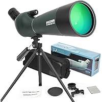 Telescopio Terrestre, Zoom de 20-75x70 mm Lente óptica Totalmente Multicapa Telescopio de diseño de con Ocular móvil y a…