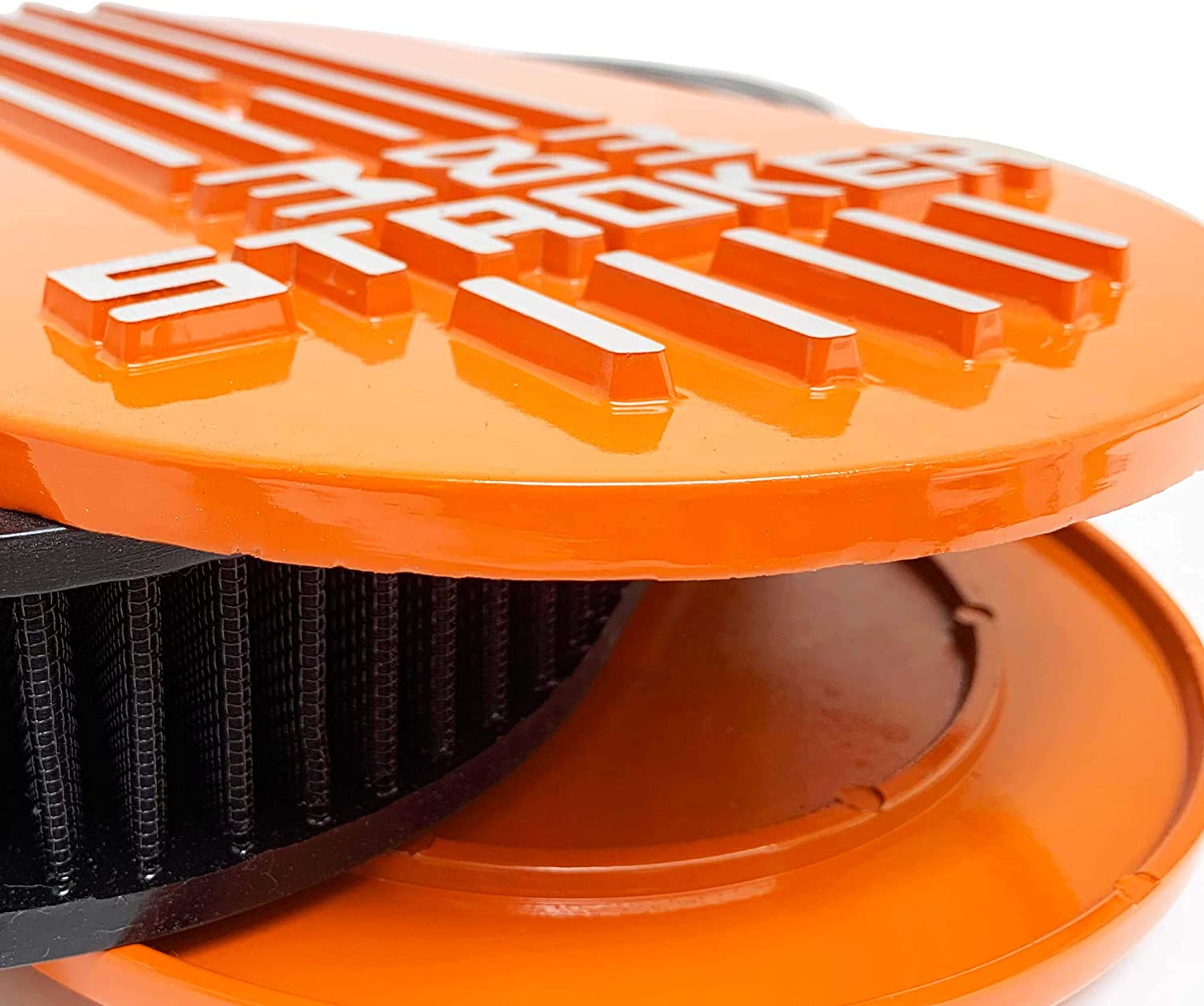 Orange 383 STROKER Small Block Chevy Air Cleaner Lid Kit SBC Tall