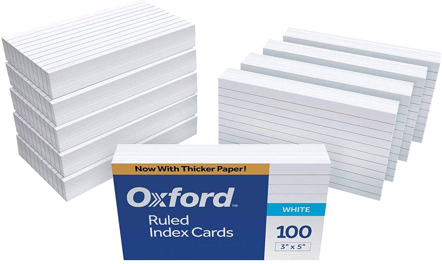 Oxford Ruled Index Cards, 3'' x 5'', White, 2,000 Cards (20 Pack of 100, 31EE) by Oxford