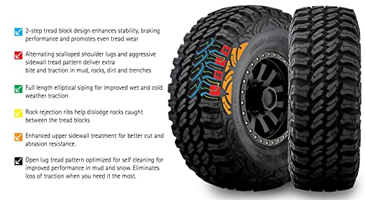 Amazon pro comp xtreme mt2 radial tire 28570r17 automotive sciox Image collections