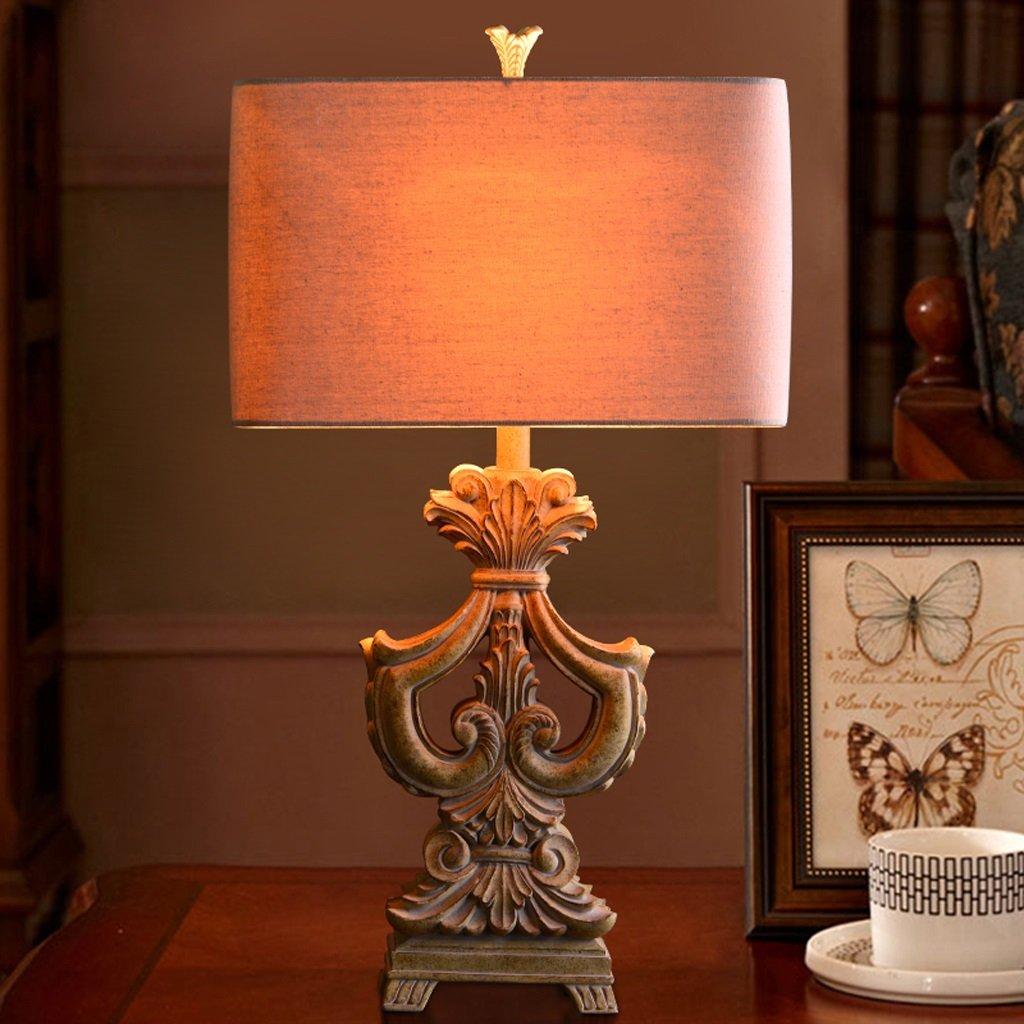 Hanlon E27-Schraubsockel, Tischlampe Europäische Warm Tischlampe Wohnzimmer Amerikanische Schlafzimmer Bedside Studie Kreative Lampe ( farbe : Dimmschalter )