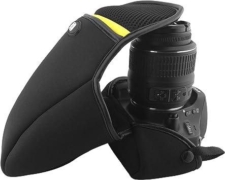 ARCHE - Funda de Neopreno para cámara de Fotos Nikon D80 D90 D3100 D5100 D7000 D7100 con Lente 18-105mm / 18-200 mm / 17-85 mm (tamaño grande/L70 x D120 x H200): Amazon.es: Electrónica
