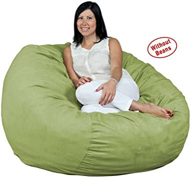 4 feet Bean Bag Chair Cover Only Large Washable Memory Foam Furniture Bean Bag Replacement Cover with Wash Bag Without Bean Filling