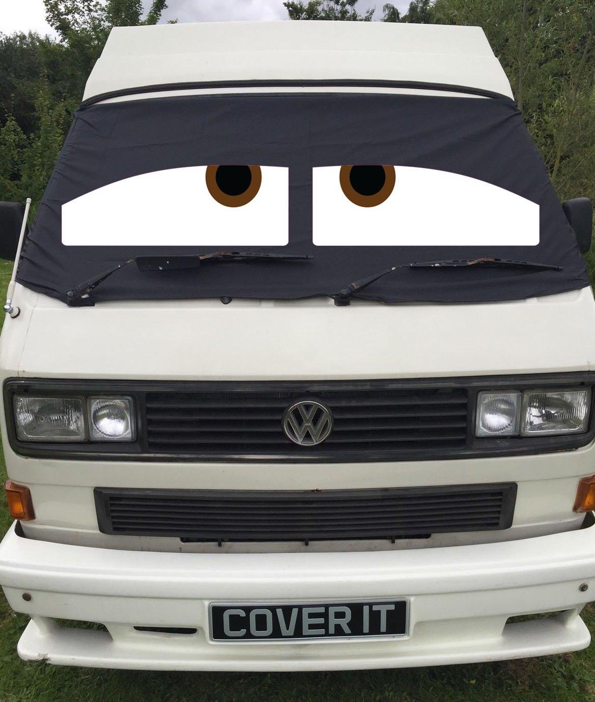 Danny T25 furgoneta ventana cortina de pantalla Wrap Cover Sleepy ojos Transporter Cover It 4 Less
