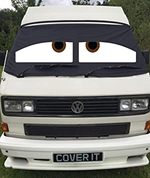 VW T4 Window Screen Cover Camper Van Black Out Curtain Wrap Eyes Transporter