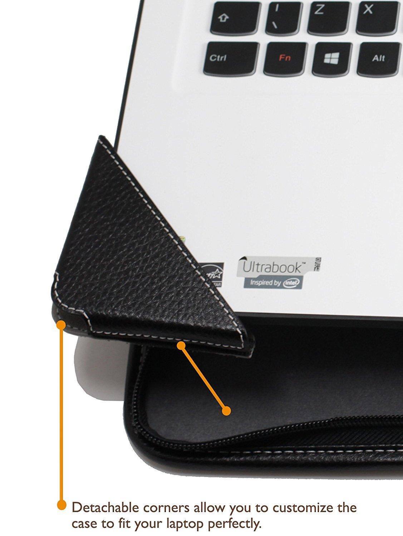 4d54baf7b53 Broonel - Contour Series - Cuir Noir Housse de protection pour la Asus Pro  12.5 B8230UA-GH0025E