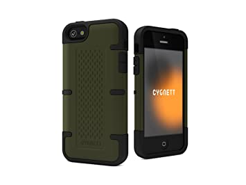 brand new 6b129 92365 Cygnett Workmate Apple iPhone 5 Case with Dual Protection Material.  Included Screen Protector -Green/Black