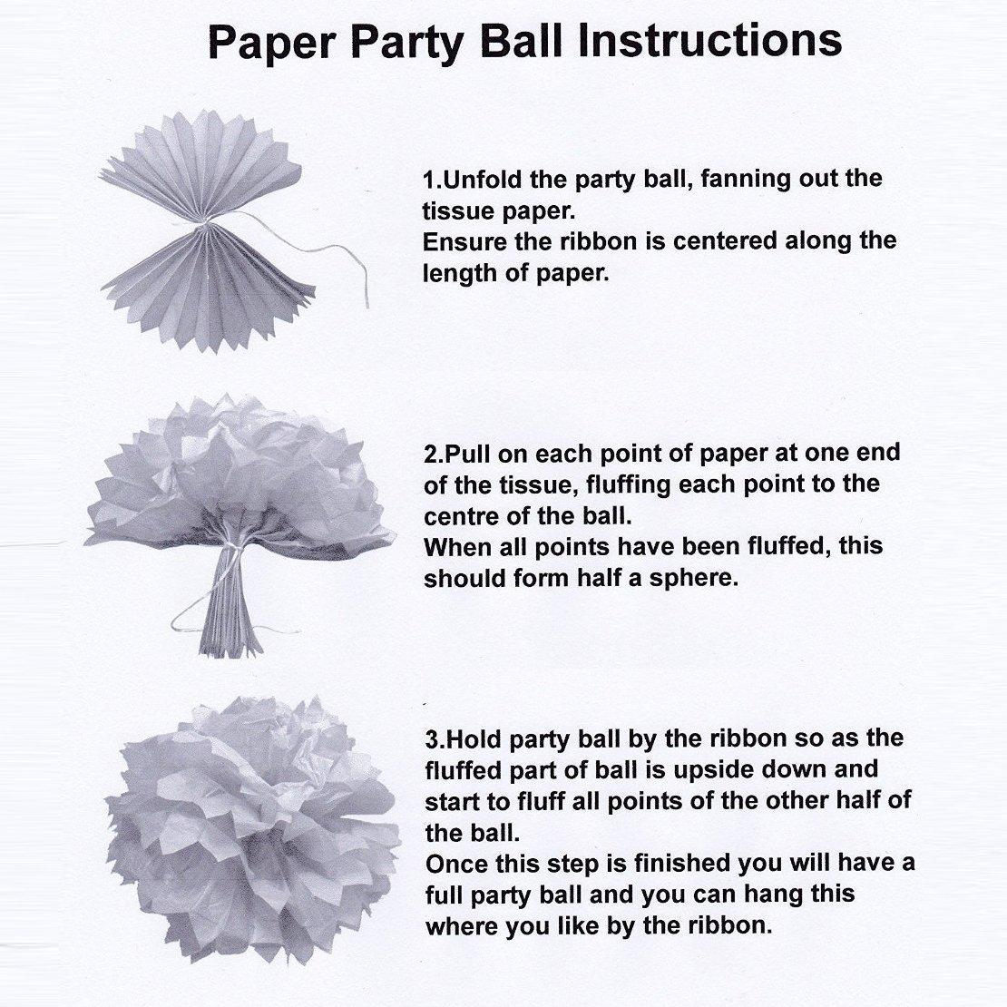 Amazon Paper Pom Poms Tissue Paper Flowers Purple Mysterious