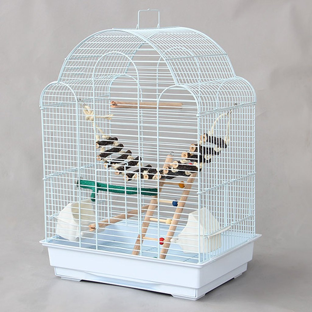 Package 1 Birdcage Liuyu·Life Home Parred Metal Breeding Cage White (color   Package 1)