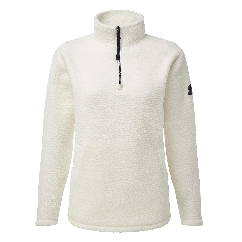 Tog24 Moira Womens Sherpa 1//4 Zip Deep Pile Winter Fleece Top with Pocket