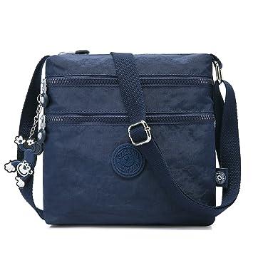 Blau EGOGO Messenger Umh/ängetasche Umh/ängetasche mit Rei/ßverschlusstaschen