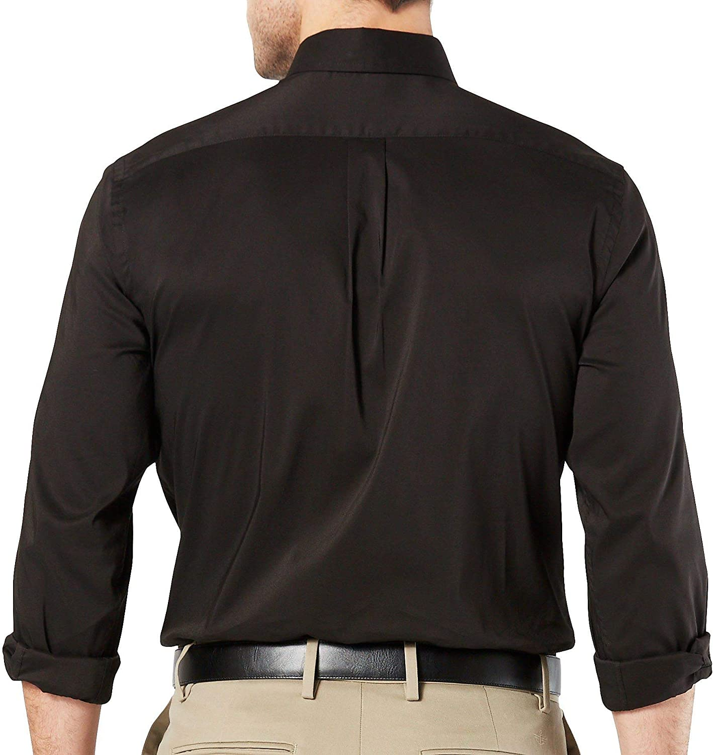 dockers Mens Comfort Stretch No Wrinkle Long Sleeve Button Front Shirt Button Down Shirt