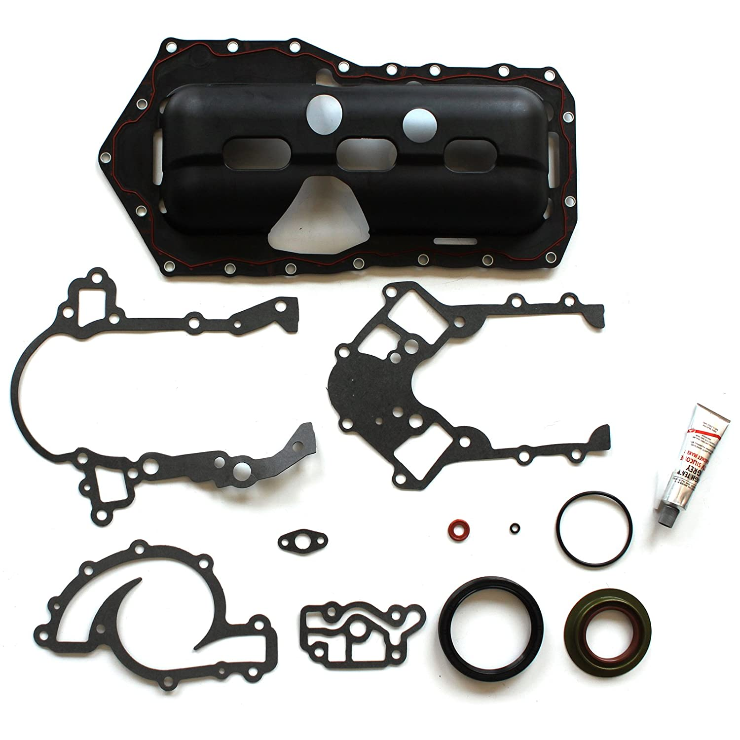 SCITOO Replacement for Oil Pan Gasket Kit fit Chevrolet Camaro Pontiac Buick Oldsmobile 3.8L V6 1995-2003 Automotive Oil Pan Gaskets Sets