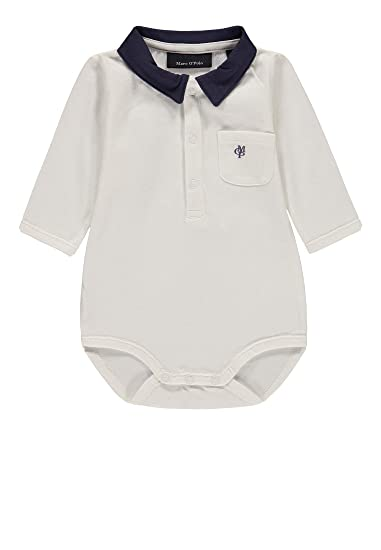 Marc O' Polo Kids Baby Jungen Strampler Body 11 Arm, Gestreift