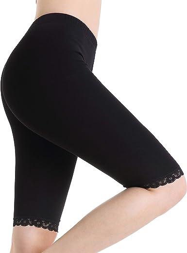 Leggins Cortos Mujer Pantalones Verano Debajo De Vestidos Pantalón Elásticos: Amazon.es: Ropa y accesorios