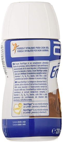 Ensure Nutrivigor sabor chocolate en botella de 220ml pack x4 – complemento alimenticio con proteínas, vitaminas, minerales y CaHMB*