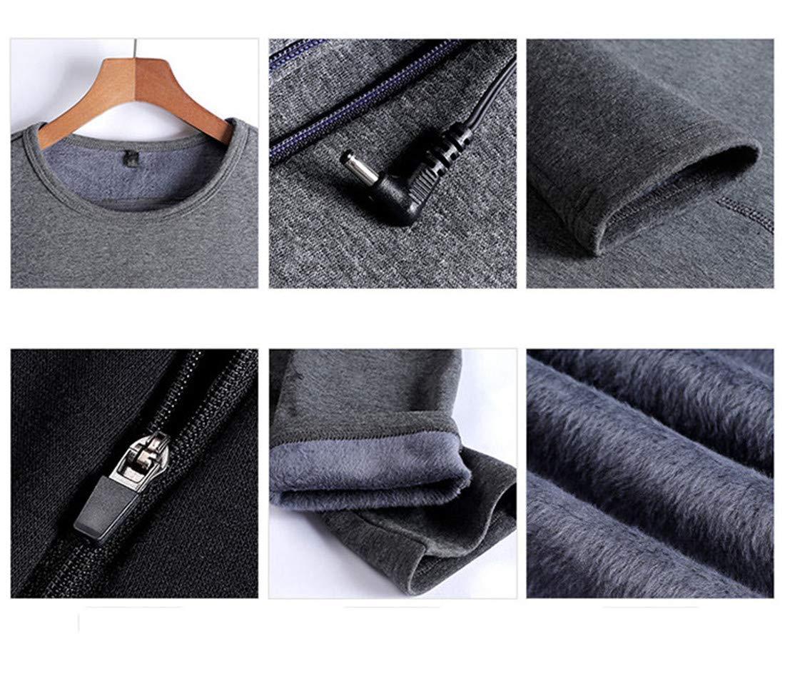 Set De Ropa T/éRmica El/éCtrico USB Remera Manga Larga Y Pantalones Largos Calefactable Conjunto De Ropa para Hombre Y Mujer Camiseta Y Pantal/óN