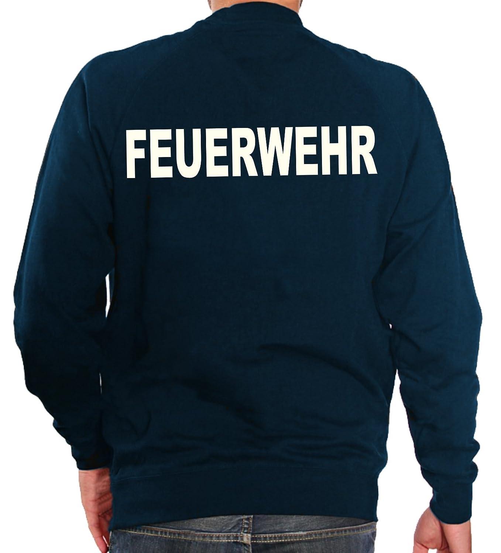 nachleuchtend FEUERWEHR fluoreszierend Sweatshirt navy