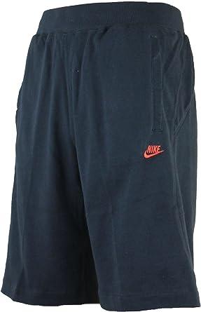 Nike Algodon Hombre 27 9cm Largo Hasta La Rodilla Jersey Pantalones Cortos Negro Rojo Medium Amazon Es Deportes Y Aire Libre