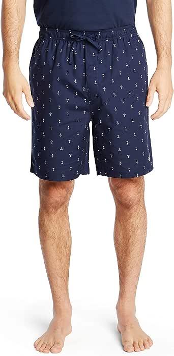 Nautica - Pantalón Corto de Pijama para Hombre, Tejido Suave, 100% algodón elástico: Amazon.es: Ropa y accesorios
