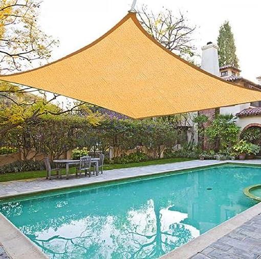 FENCETER 12'x16' Rectangle Woven Sun Shade Sail Beige