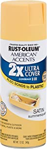 Rust-Oleum 302625 American Accents Ultra Cover 2X Satin, Each, Summer Squash