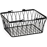 Spectrum Diversified Twist Wire Storage Basket, Medium, Black