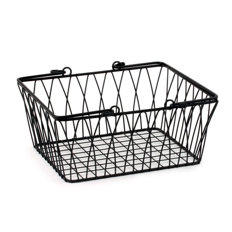Spectrum Diversified Twist Wire Storage Basket, Medium, Black