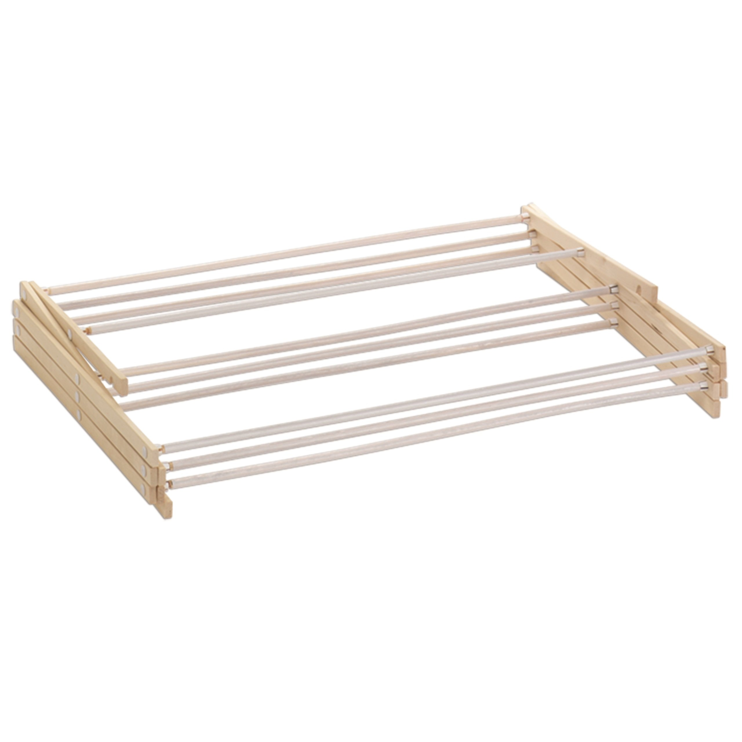 HOMZ Drying Rack, Ready to Assemble, 42'' x 29'' x 14'', Natural Wood (4230031) by HOMZ (Image #2)