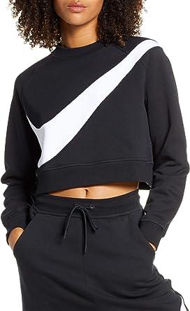 NIKE Sportswear Swoosh Sudadera para Mujer - algodón: Amazon.es: Ropa y accesorios