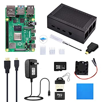 Amazon.com: ELECROW Raspberry Pi 4 Starter Kit (4G RAM) con ...