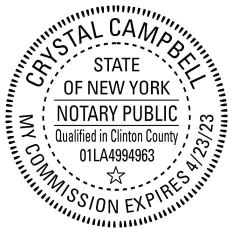 Image Unavailable Not Available For Color New York Notary Round Seal Stamp