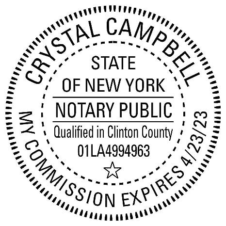 New York Notary Round Seal Stamp