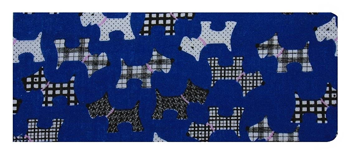 Miss Pretty London Royal Blue Scottie Dogs Print Chequebook Wallet - Glossy Finish