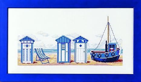 Marie Couer Cabines de casetas de Playa de Plage, 100% algodón
