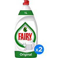 Fairy Original Dishwashing Liquid Soap, 1Litre (Pack of 2)