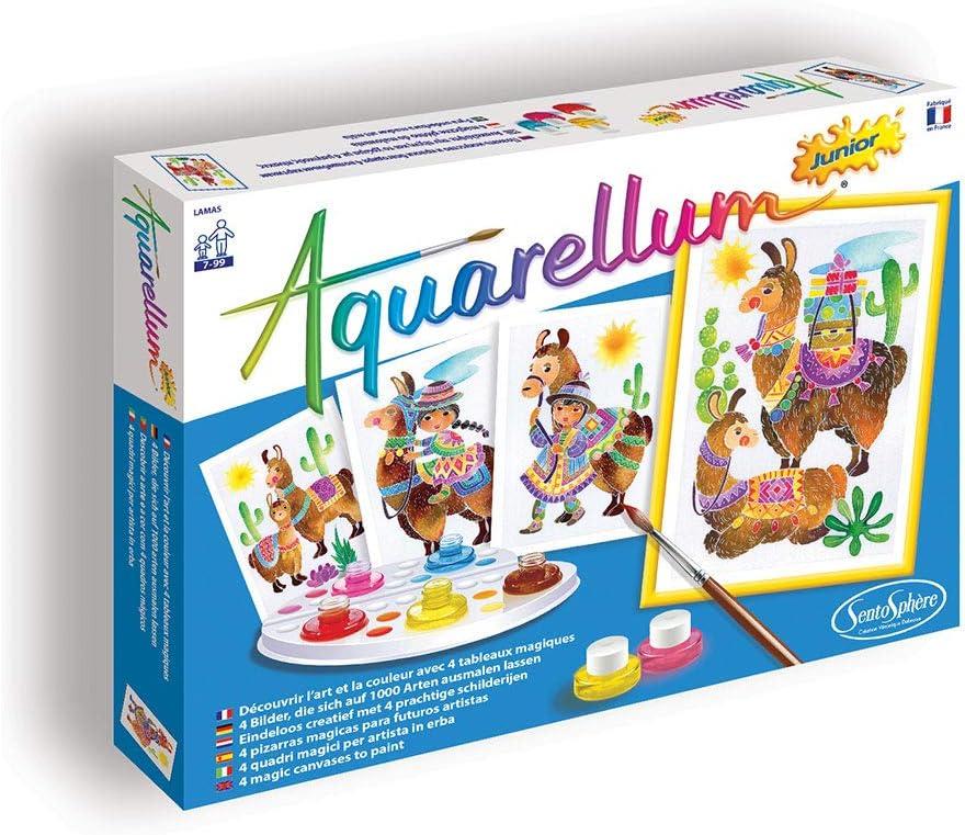 Llamas Kids Art Sets Aquarellum Junior Painting By Numbers