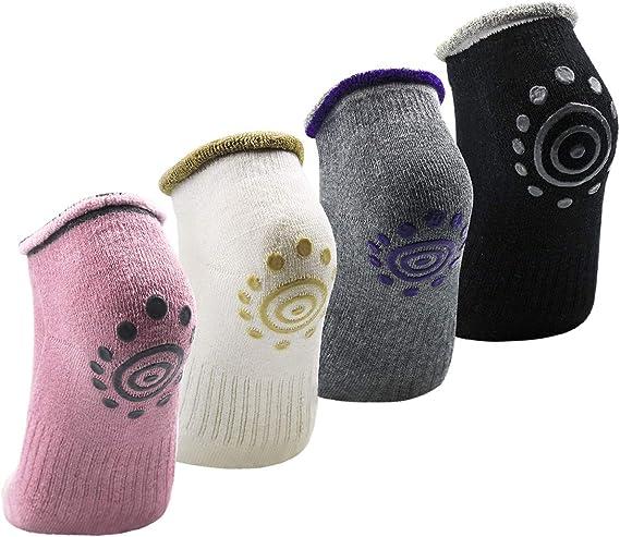 Calze Sportive Professionali da Yoga Calze da Donna Fitness Pilates Calze Antiscivolo Pantofole Attrezzatura Protettiva da Ballo 1 Paio