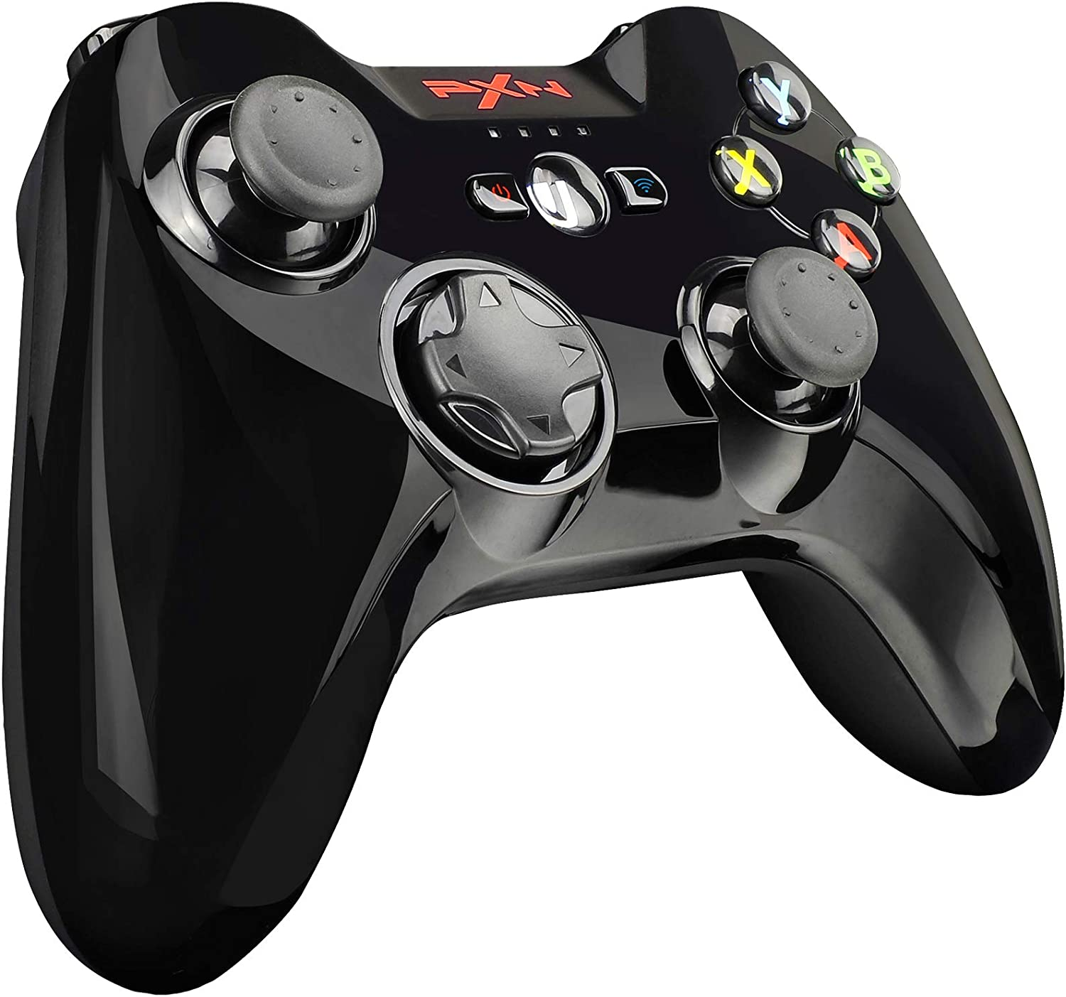 PXN Wireless Mobile Gaming Controller for iPhone, iPad and Apple TV, MFi Certified Gamepad with Phone Clip(Black)