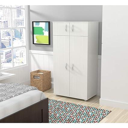 Amazon Simple Interior Armoire Wardrobe Contemporary Bedroom Enchanting Simple White Bedroom