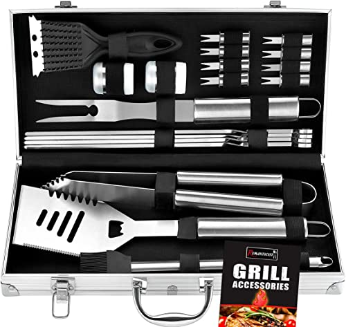 ROMANTICIST 20 Piece Heavy Duty BBQ Grill Tool Set